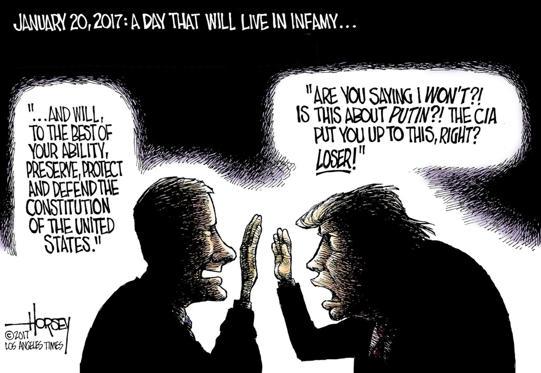 Slide 1 of 43: David Horsey/Los Angeles Times