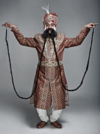 "<p>LONGEST MOUSTACHE</p><p>Current record holder: Ram Singh Chauhan of India </p><p>What: The longest moustache measures 14 feet (4.29 meters) </p><p>Where was the record set: On the Italian TV show ""Lo Show dei Record"" in Rome, Italy </p><p>When was the record set: March 4, 2010</p>"