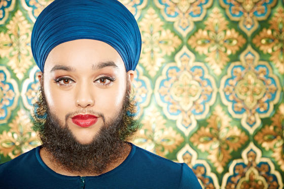 Slide 1 of 30: YOUNGEST FEMALE WITH A FULL BEARDCurrent record holder: Harnaam Kaur of U.K. What: Kaur, who was 24 years and 282 days old at the time, is the youngest female with a beard Where was the record set: Slough, U.K. When was the record set: Sept. 7, 2015
