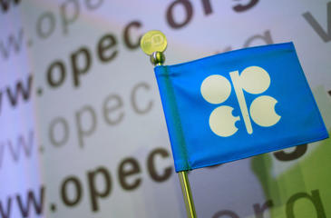 The logo of the OPEC (Organization of the Petroleum Exporting Countries) is seen at the organization's headquarter.