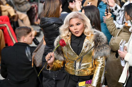 Slide 1 of 101: NEW YORK, NY - FEBRUARY 16:  Lil' Kim arrives at the runway for the Marc Jacobs Fall 2017 Show at Park Avenue Armory on February 16, 2017 in New York City.  (Photo by Slaven Vlasic/Getty Images for Marc Jacobs)