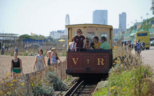Volk's Electric Railway lays claim to being the oldest of its kind CREDIT: ALAMY