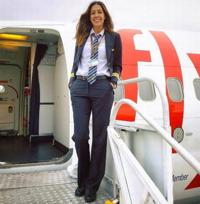 The former water polo player works for Istanbul-based Pegasus Airlines (Photo: Instagram/echosierra85)