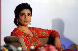 Indian Bollywood actress Raveena Tandon