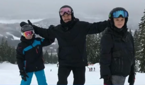 David Beckham family enjoy Whistler snow