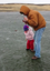 Family catch trout during ice fishing trip