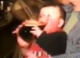 'Pint baby' speaks out after his drinking clip goes viral