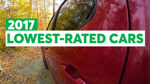Consumer Reports 2017 Lowest-Rated Cars in 10 Categories