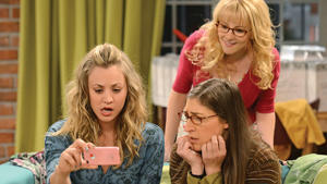 (Clockwise from left to right) Kaley Cuoco, Melissa Rauch and Mayim Bialik.