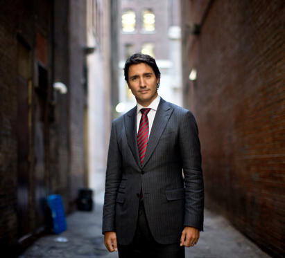 Slide 1 of 22: Justin Trudeau photographed in downtown Toronto following an interview regarding his memoir, 'Common Ground'