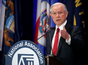 Attorney General Jeff Sessions speaks at the National Association of Attorneys General annual winter meeting, Tuesday, Feb. 28, 2017, in Washington.