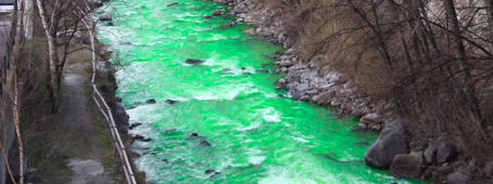 Why this river is turning green?