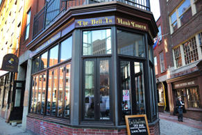 BOSTON - FEBRUARY 17: A missing poster showing Zachary Marr hangs in a window in the Bell in Hand Bar in Boston on Feb. 17, 2016. Marr was last seen leaving the Bell in Hand before going missing.