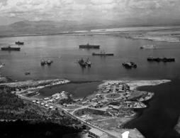 AP feed: President Theodore Roosevelt signed an agreement with Cuba to lease the area around Guantanamo Bay to the United States. http://www.onthisday.com/events/february/23  https://en.wikipedia.org/wiki/February_23 Generic image from Getty: View of Guantanamo Bay, Cuba taken in 1946 as units of the 8th Fleet rode at anchor at the U.S. naval base.