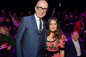 Gucci show, Autumn Winter 2017, Milan Fashion Week, Italy - 22 Feb 2017 Marco Bizzarri and Salma Hayek in the front row