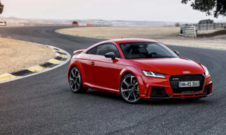 MSRP: $60,000 (est.)<br>The Audi TT has always offered high performance wrapped in a very attractive package, but the TT RS takes everything up a notch. With its muscular front end, large air inlets and fixed rear spoiler, this TT looks like it means business. And it does. Audi fitted this RS variant with a newly-developed 5-cylinder engine putting out 400 horsepower and 354 lb-ft of torque. With power being directed to all four wheels via Audi's latest quattro all-wheel-drive system, this little sports car can reach 62 mph in 3.7 seconds. The convertible takes slightly longer — 3.9 seconds.