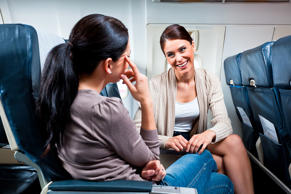Passengers talking during the flight