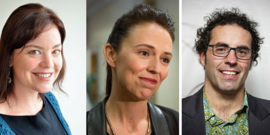 Julie Anne Genter, Jacinda Ardern and Geoff Simmons