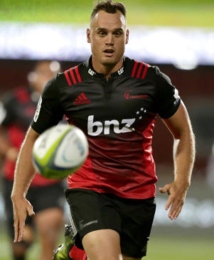 Israel Dagg runs after the ball during their Super 15 rugby match against the Brumbies in Christchurch