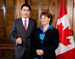File image of Prime Minister Justin Trudeau and British Columbia Premier Christy Clark.