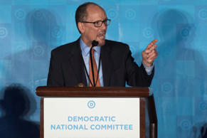 Former Labor Secretary Tom Perez speaks during the general session of the DNC wi...