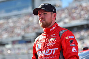 Feb 25, 2017; Daytona Beach, FL, USA; NASCAR Xfinity Series driver Justin Allgaier (7) before the PowerShares QQQ 300 at Daytona International Speedway.