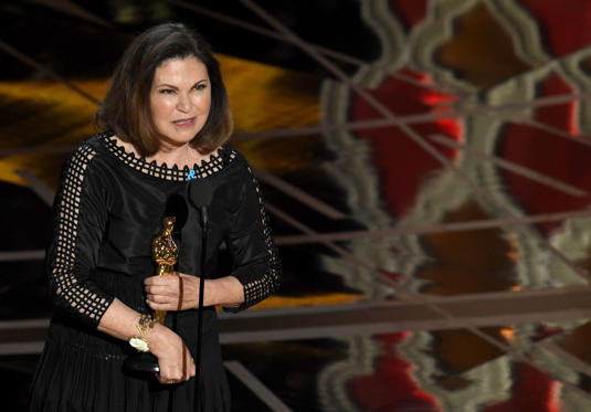 Slide 5 of 33: HOLLYWOOD, CA - FEBRUARY 26: Costume designer Colleen Atwood accepts Best Costume Design for 'Fantastic Beasts and Where to Find Them' onstage during the 89th Annual Academy Awards at Hollywood & Highland Center on February 26, 2017 in Hollywood, California. (Photo by Kevin Winter/Getty Images)