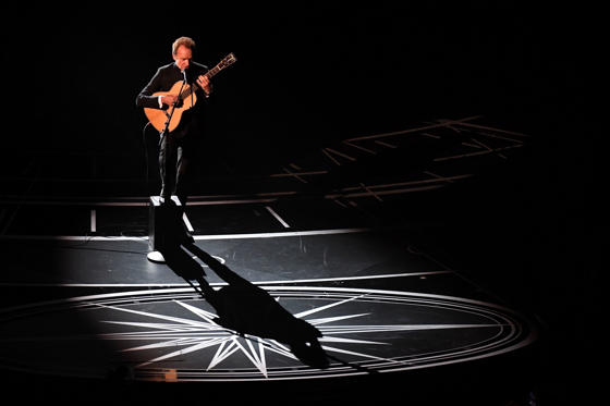 Slide 13 of 33: British singer Sting performs on stage at the 89th Oscars on February 26, 2017 in Hollywood, California. / AFP / Mark RALSTON (Photo credit should read MARK RALSTON/AFP/Getty Images)