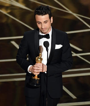 Slide 24 of 33: HOLLYWOOD, CA - FEBRUARY 26: Composer Justin Hurwitz accepts Best Original Score for 'La La Land' onstage during the 89th Annual Academy Awards at Hollywood & Highland Center on February 26, 2017 in Hollywood, California. (Photo by Kevin Winter/Getty Images)