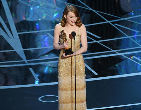 Slide 30 of 33: HOLLYWOOD, CA - FEBRUARY 26: Actress Emma Stone accepts Best Actress for 'La La Land' onstage during the 89th Annual Academy Awards at Hollywood & Highland Center on February 26, 2017 in Hollywood, California. (Photo by Kevin Winter/Getty Images)