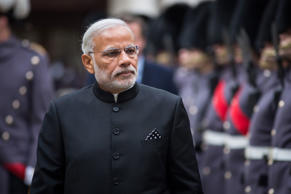 LONDON, ENGLAND - NOVEMBER 12:  Indian Prime Minister Narendra Modi inspects a Guard of Honour on November 12, 2015 in London, England.  Modi began a three-day visit to the United Kingdom today which will be marked by a speech to Parliament a meeting wit