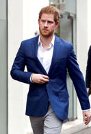 Prince Harry leaves after visiting to the digital mental health service, Big White Wall, on Feb. 26  in London.
