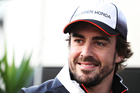 Slide 2 af 21: SOCHI, RUSSIA - APRIL 28: Fernando Alonso of Spain and McLaren Honda in the Paddock during previews ahead of the Formula One Grand Prix of Russia at Sochi Autodrom on April 28, 2016 in Sochi, Russia.  (Photo by Mark Thompson/Getty Images)