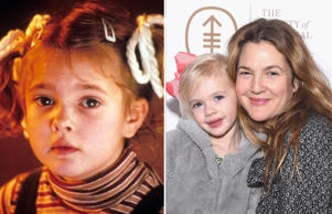 Drew Barrymore; with daughter Frankie