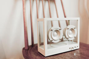 Wireless Transparent Speakers with Flic Button