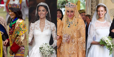 "<strong> The INSIDER Summary:</strong><strong>Royal weddings are usually lavish affairs, sometimes lasting several days.</strong><strong>Wedding dresses range from simple white garments to vibrant and intricate designs.</strong><strong>Here's what 15 royal brides wore on their wedding day.</strong><p><br> A <a href=""http://www.thisisinsider.com/best-royal-weddings-of-all-time-2017-2""> royal wedding</a> isn't just a union between two people and <a href=""http://www.thisisinsider.com/royal-family-photos-from-around-the-world-2017-7""> their families</a>. It's a national (and sometimes international) affair that attracts throngs of well-wishers, close media attention, and high-profile guests all hoping to catch a glimpse of the happy couple.</p><p> Simple, <a href=""http://www.thisisinsider.com/why-are-wedding-dresses-white-2017-4""> white wedding dresses are traditional</a> in some countries, perhaps with a bit of lace or beading to add to the design. Other royal brides celebrate with bright, festive colors, rich embroidery, and precious stones the size of eggs. </p><p> Here's what 15 royal brides wore on their wedding day.</p>"