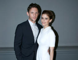 PARIS, FRANCE - JUNE 24: (L-R) Actors Jamie Bell and Kate Mara attend the Dior Homme Menswear Spring/Summer 2018 show as part of Paris Fashion Week on June 24, 2017 in Paris, France. (Photo by Bertrand Rindoff Petroff/Getty Images)