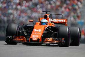 File: McLaren's Fernando Alonso in action during the qualifying session.