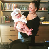 Chrissy Teigen slams 'miserable' critics for comments about baby daughter