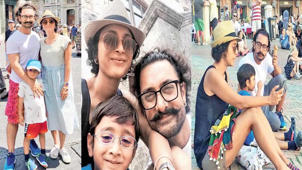 Aamir Khan And Kiran Rao Holidaying With Son Azad In Italy