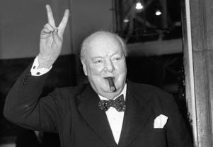 File photo dated 17/09/54 of Sir Winston Churchill