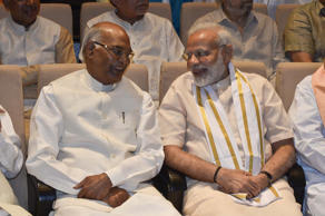 Ram Nath Kovind and Prime Minister Narendra Modi at an NDA meeting in New Delhi.