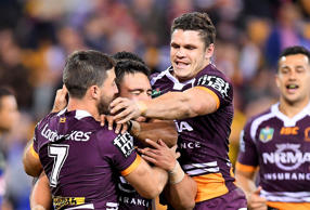 Kodi Nikorima, Josh McGuire and Roberts each scored tries within a blistering seven-minute stretch from Brisbane.