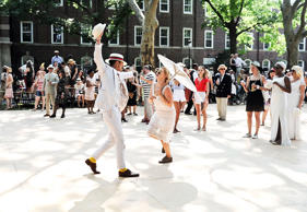 A general view of atmosphere during the 10th Annual Jazz Age Lawn Party at Governors Island on June 14, 2015 in New York City.