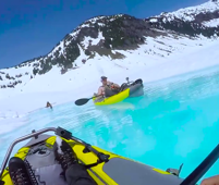You can kayak in Canada's remote glaciers