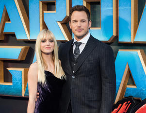 LONDON, ENGLAND - APRIL 24: Chris Pratt and Anna Faris attend the European Gala Screening of 'Guardians of the Galaxy Vol. 2' at Eventim Apollo on April 24, 2017 in London, United Kingdom. (Photo by Samir Hussein/WireImage)