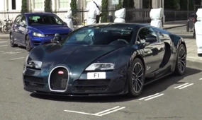 Supercars arrive in London