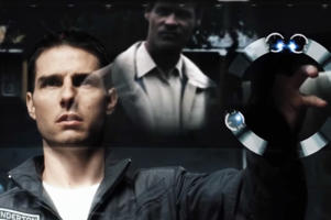 A scene from the film Minority Report