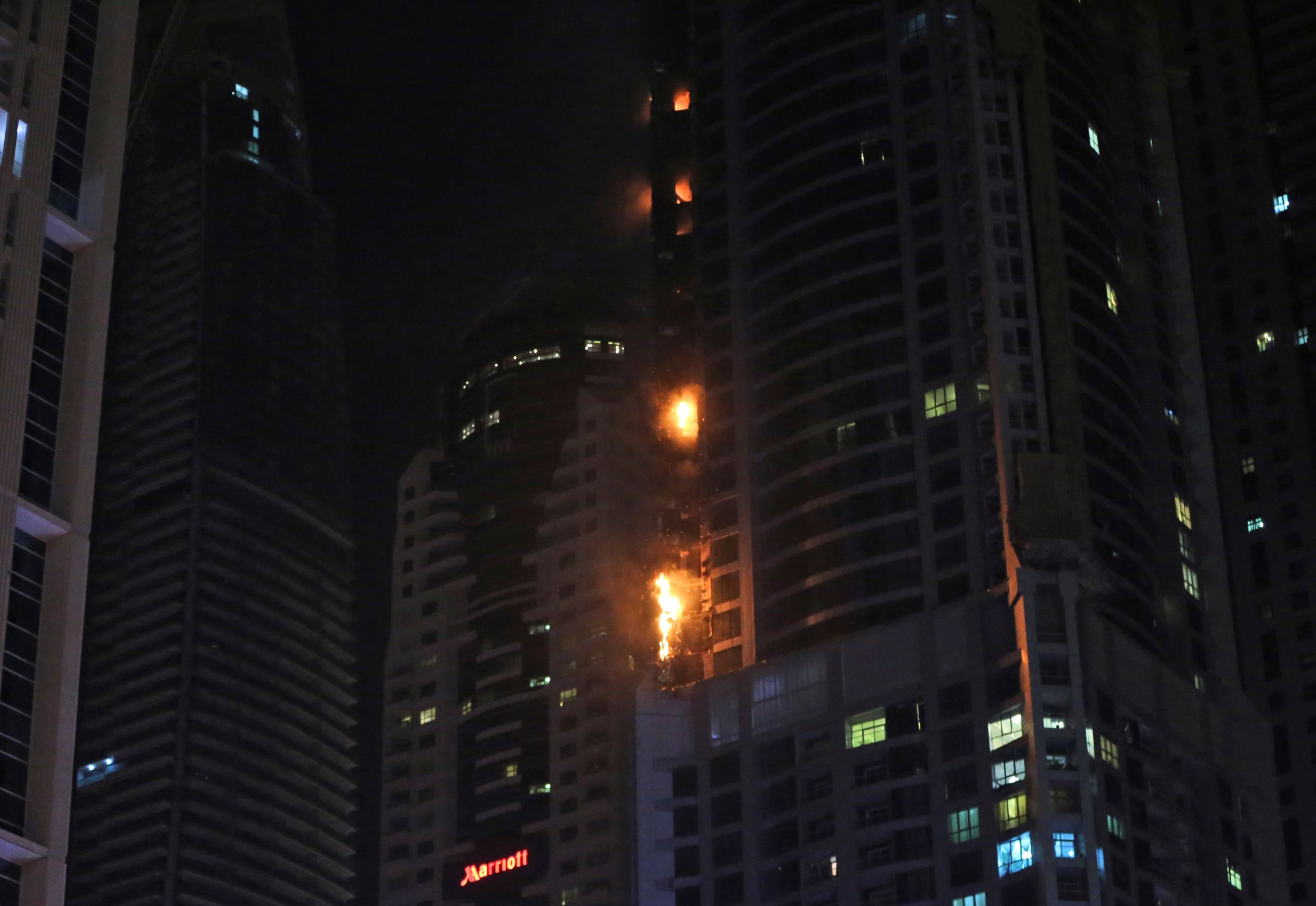 Flames engulf 86-story residential skyscraper in Dubai