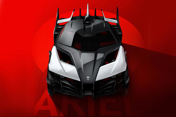 Ariel has released this official image of the P40 supercar concept